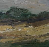Öl auf Papier, 30 x 30 cm