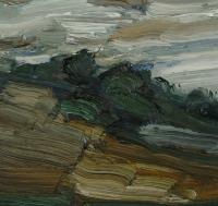 Öl auf Papier, 20 x 20 cm