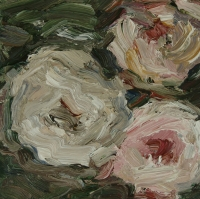 Rosen II, Öl auf Papier, 20 x 20 cm