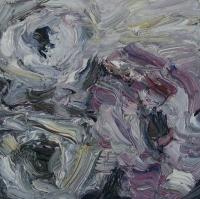 Rosen III, Öl auf Papier, 20x20 cm