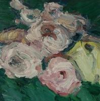 Rosen im Herbst I, 30 x 30 cm