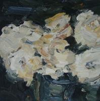 Rosen im Herbst III, 30 x 30 cm