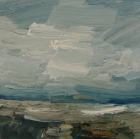 An der Ostsee II, 2015, 30 x 30 cm
