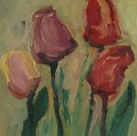Frühling Tulpen II, 2015, 30x30 cm