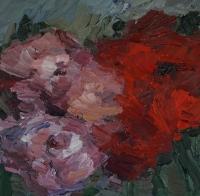 Rote Rosen, 30 x 30 cm