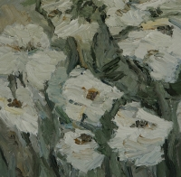 Weisse Rosen, 30 x 30 cm