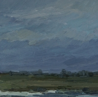 Rheinwiesen, 30 x 30 cm