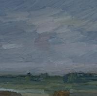 Rheinwiesen II, 30 x 30 cm