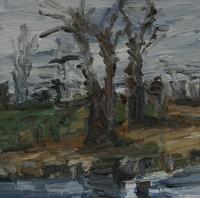 Winter am Kühkopf III, 30 x 30 cm