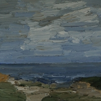 Ruhige See am Südstrand, 30 x 30 cm