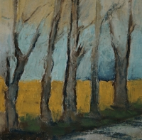 Skizze 1,o.T., Pastell, 20 x 20 cm