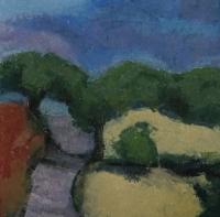 Skizze 16,o.T., Pastell, 20 x 20 cm