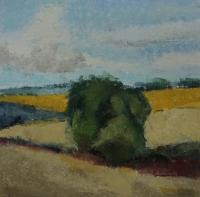 Skizze 17,o.T., Pastell, 20 x 20 cm