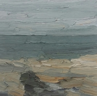 Strand bei Lobbe, 30 x30 cm