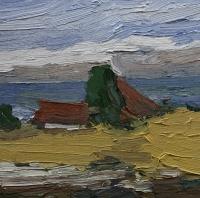 Schleiland, Felder vor der Ostsee